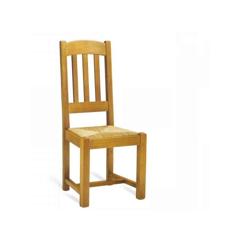 Chaise de salle manger en ch ne rustique 710 712 4 for Chaise de salle a manger en chene massif recouvert de tissu