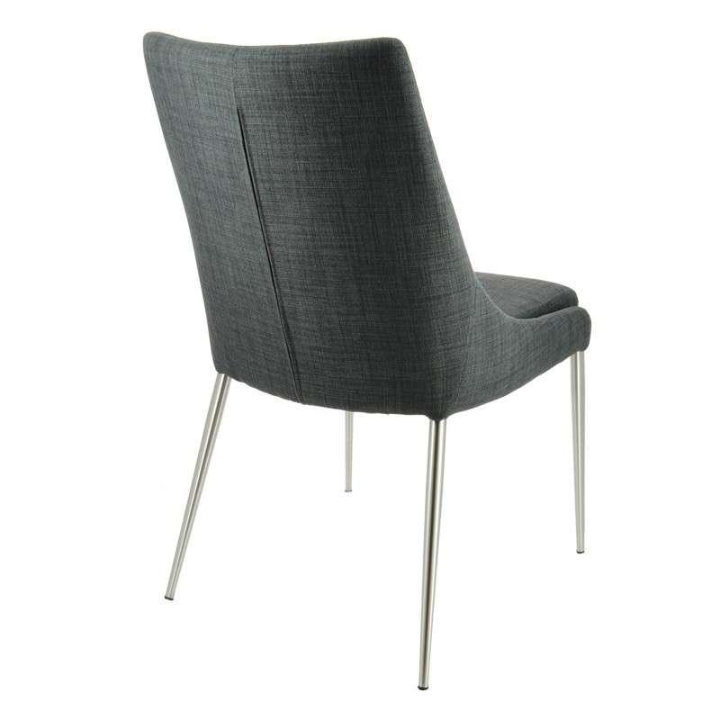chaise moderne en tissu debby 4 pieds tables chaises et tabourets. Black Bedroom Furniture Sets. Home Design Ideas
