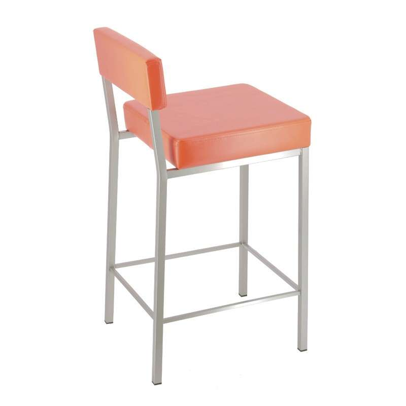 tabouret snack moderne en m tal et synthetique quinta 4 pieds tables chaises et tabourets. Black Bedroom Furniture Sets. Home Design Ideas