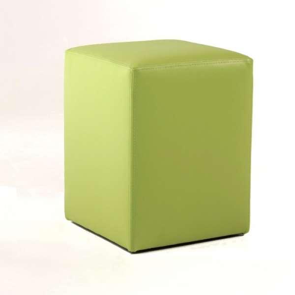 Pouf carré en vinyl synthétique – Quadra - 2