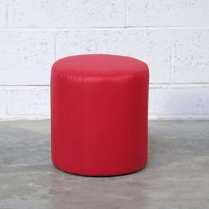 Pouf rond rouge – Rondo