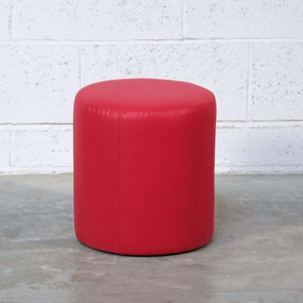 Pouf rond rouge – Rondo - 1