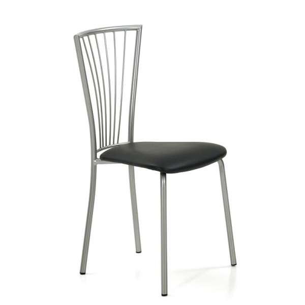 Chaise de cuisine en vinyl et métal - Jana 4 - 4