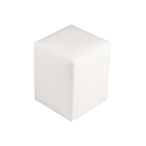 Pouf carré blanc – Quadra - 8