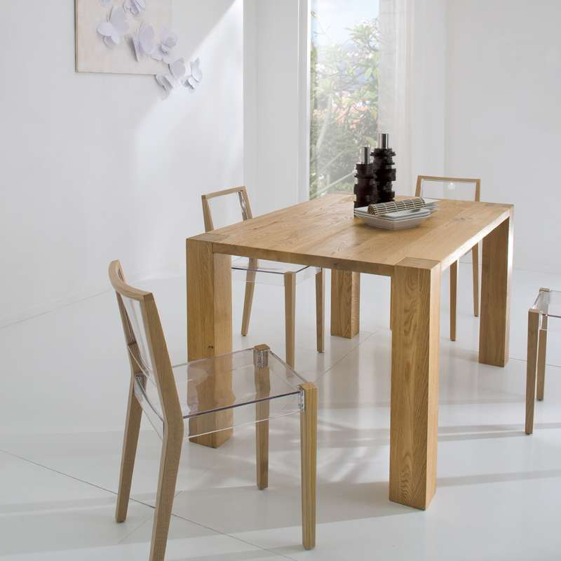 Chaise design en plexi et bois together 4 pieds for Chaise plexi bois