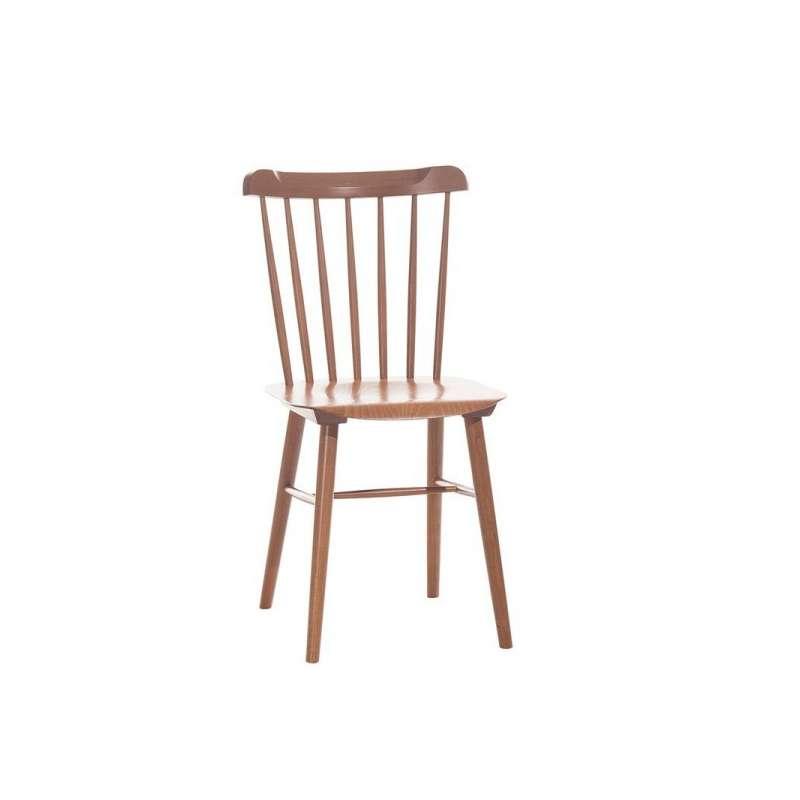 Chaise brasserie en bois 4 pieds tables chaises et for Chaise de cuisine couleur
