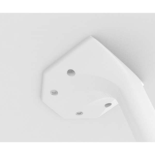 Table blanche design carrée en stratifié - Maya - 2