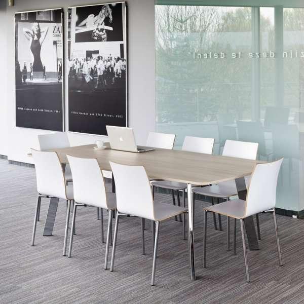Table de cuisine rectangle en stratifié - Elias