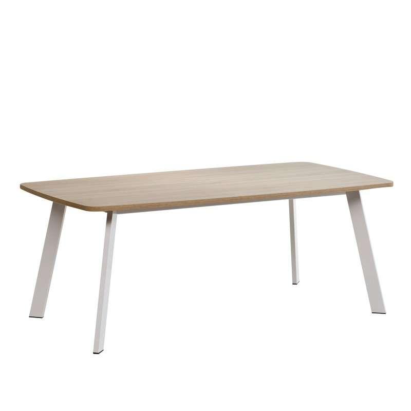 Table de cuisine rectangle en stratifi elias 4 pieds for Table cuisine 4 pieds