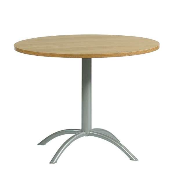 Table ronde de cuisine en stratifi laser 4 pieds - Table de cuisine en stratifie ...