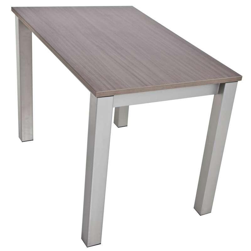 Table de cuisine rectangulaire en stratifi avec allonge for Table cuisine 4 pieds