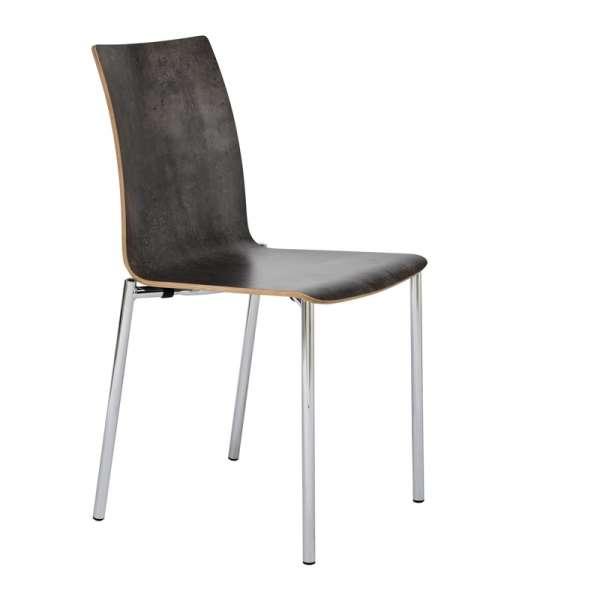Chaise moderne en métal et stratifié - Pro's