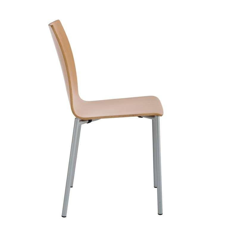 chaise moderne en m tal et stratifi pro 39 s 4. Black Bedroom Furniture Sets. Home Design Ideas