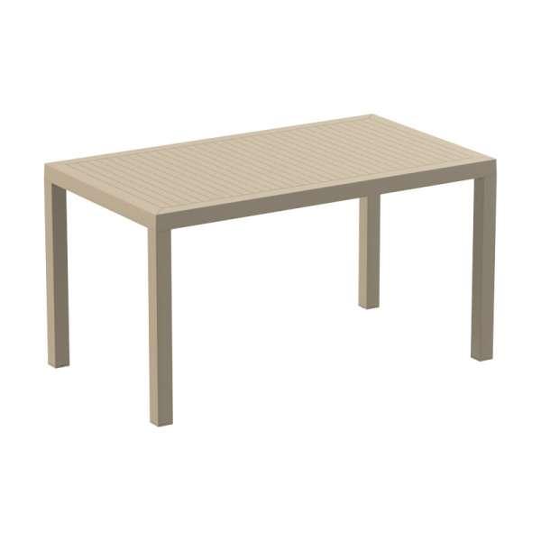 Table de terrasse rectangulaire tourterelle- Ares - 11