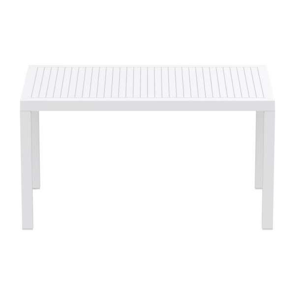 Table de terrasse rectangulaire blanche - Ares - 13
