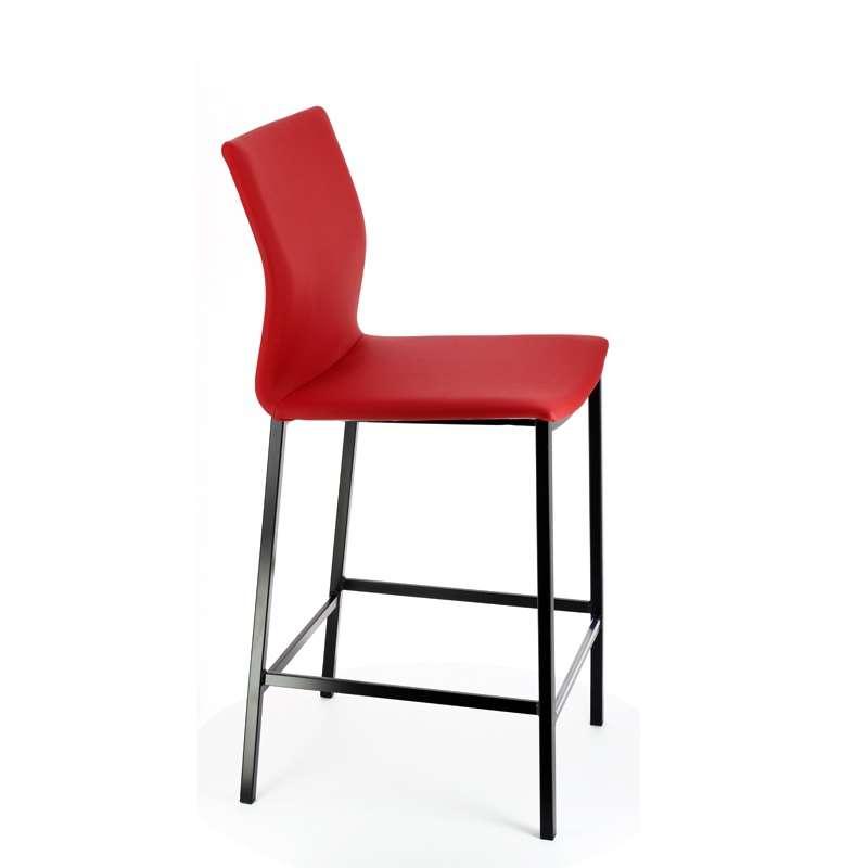 Tabouret snack en m tal et synth tique sierra 4 pieds tables chaises e - Tabouret snack 4 pieds ...