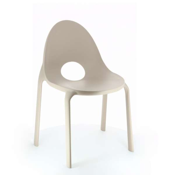 Chaise grise design en polypropylène - Drop Infiniti® - 12