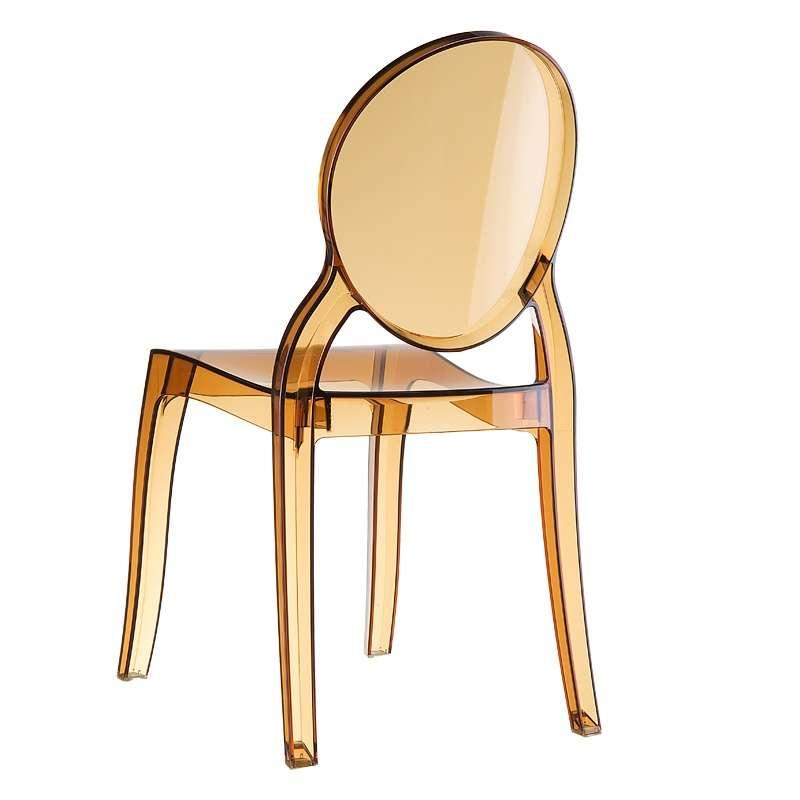 Chaise m daillon transparente en polycarbonate elizabeth 4 - Chaise transparente elizabeth cosy ...