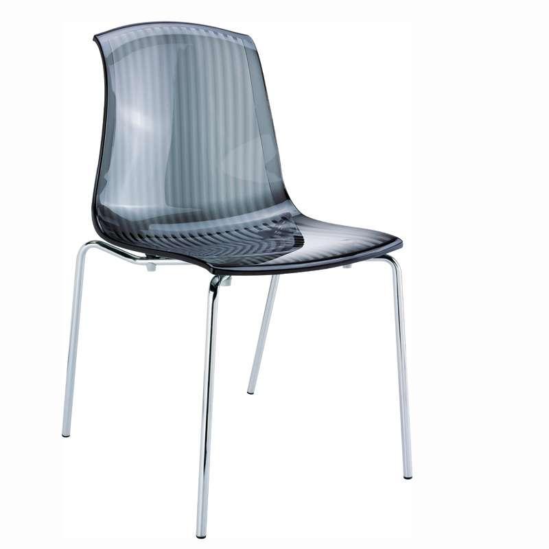 chaise moderne en polycarbonate et m tal allegra 4 pieds tables chaises et tabourets. Black Bedroom Furniture Sets. Home Design Ideas