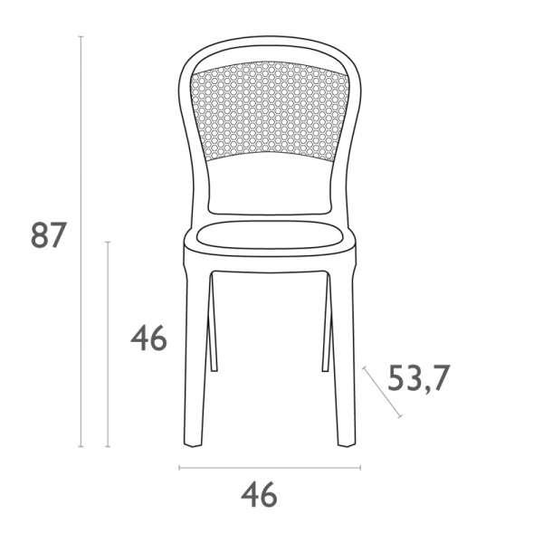 Chaise design en plexi Bee 15 - 15