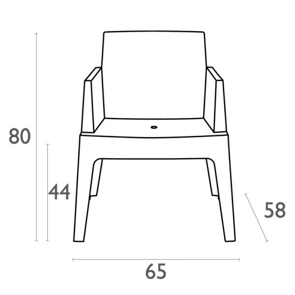 Fauteuil design de jardin en polypropylène Box 19 - 19