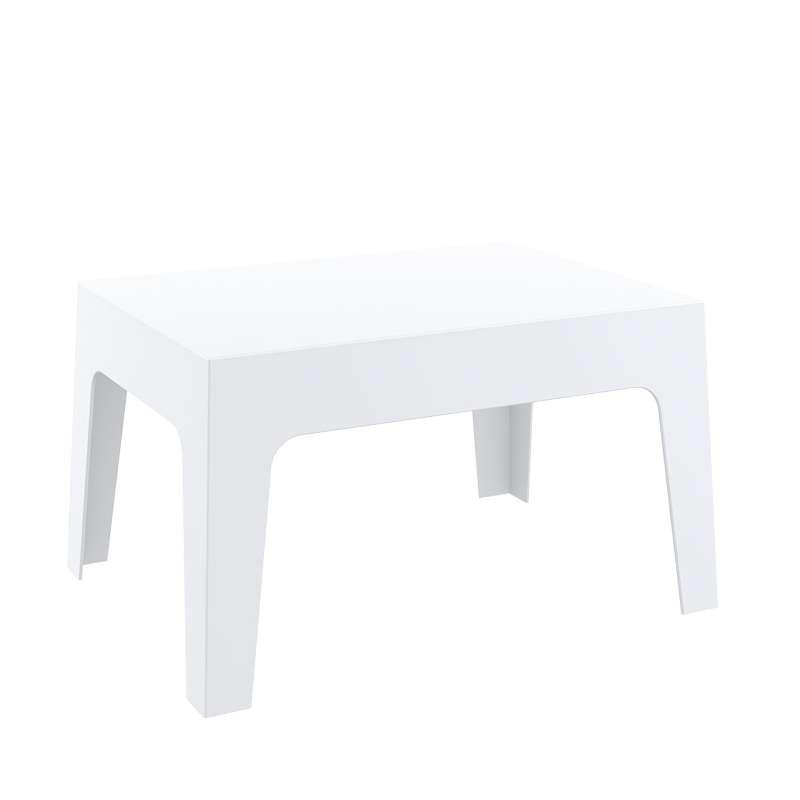 Salon de jardin en polypropyl ne box jardin 2 4 pieds tables chaises e - Table basse polypropylene ...