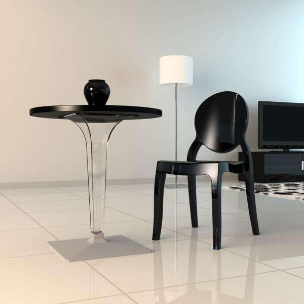 chaise moderne m daillon en polycarbonate opaque elizabeth 4. Black Bedroom Furniture Sets. Home Design Ideas