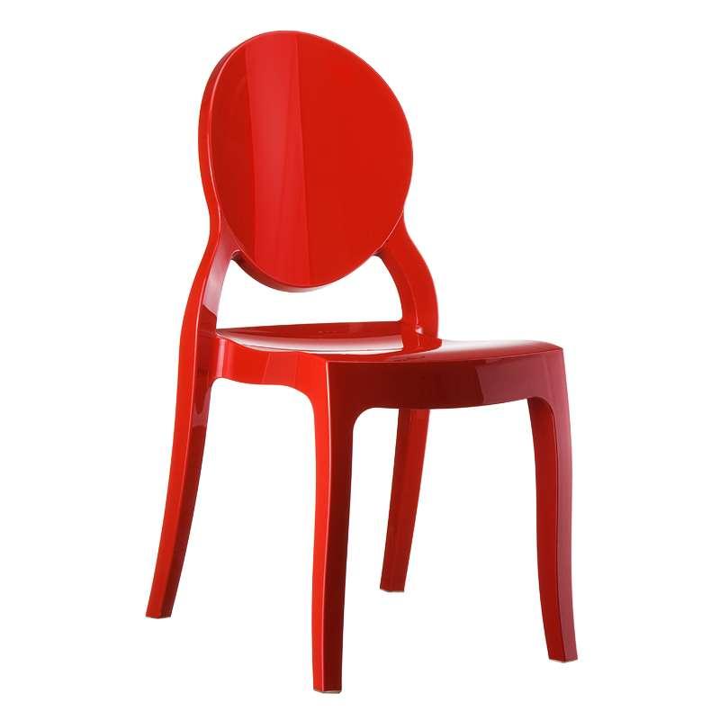 chaise moderne m daillon en polycarbonate opaque elizabeth 4 pieds tables chaises et. Black Bedroom Furniture Sets. Home Design Ideas