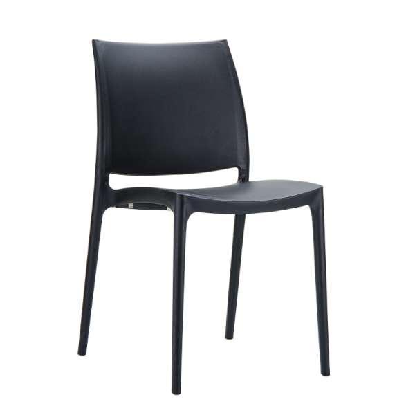 Chaise noire en plastique polypropylène - Maya - 6
