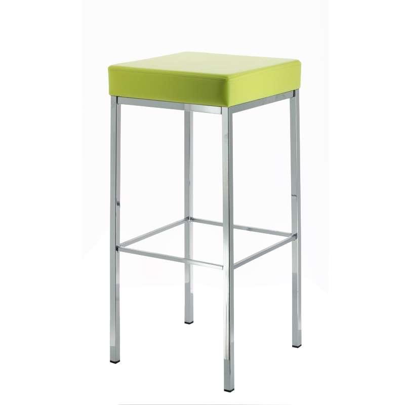 tabouret de bar sans dossier en m tal quadra 4 pieds tables chaises et tabourets. Black Bedroom Furniture Sets. Home Design Ideas