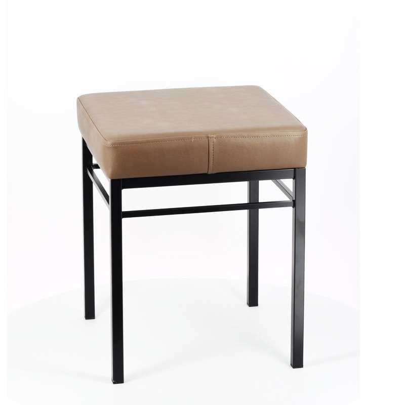 tabouret bas de cuisine en m tal et synth tique quadra 4. Black Bedroom Furniture Sets. Home Design Ideas