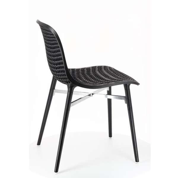 Chaise design Next Infiniti® - Piétement hêtre massif laqué & assise polycarbonate - 5