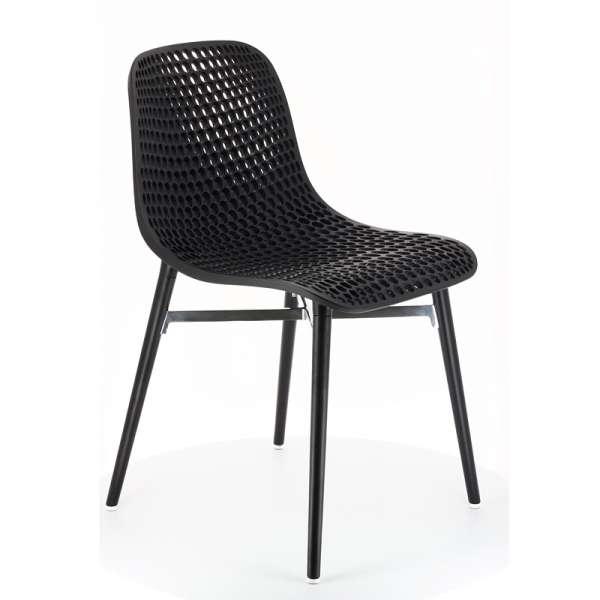 Chaise design Next Infiniti® - Piétement hêtre massif laqué & assise polycarbonate - 3