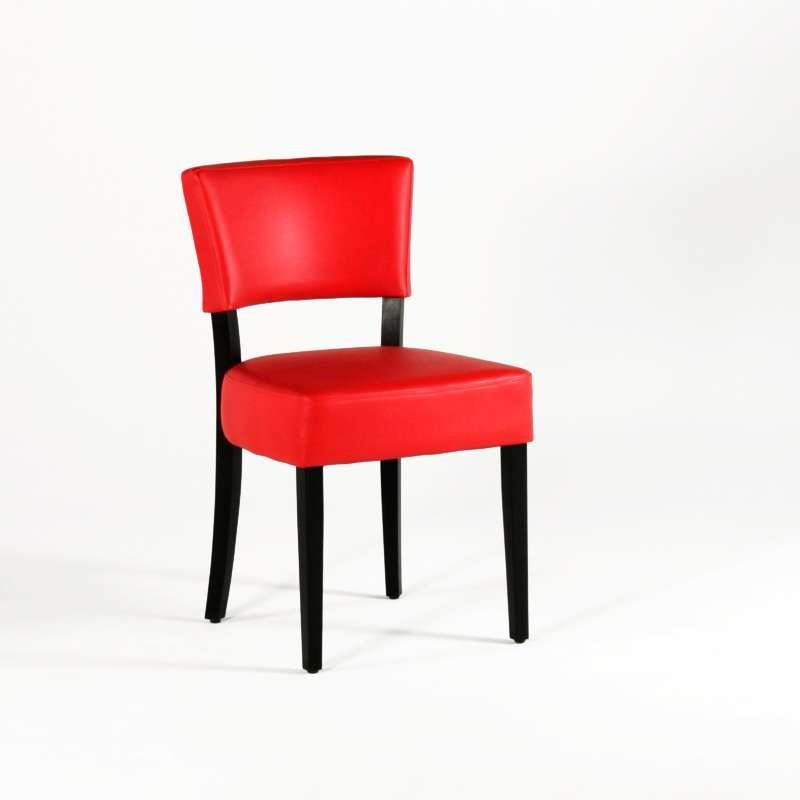Chaise de salle manger en bois et synth tique steffi for Chaise de salle a manger bois et chiffon