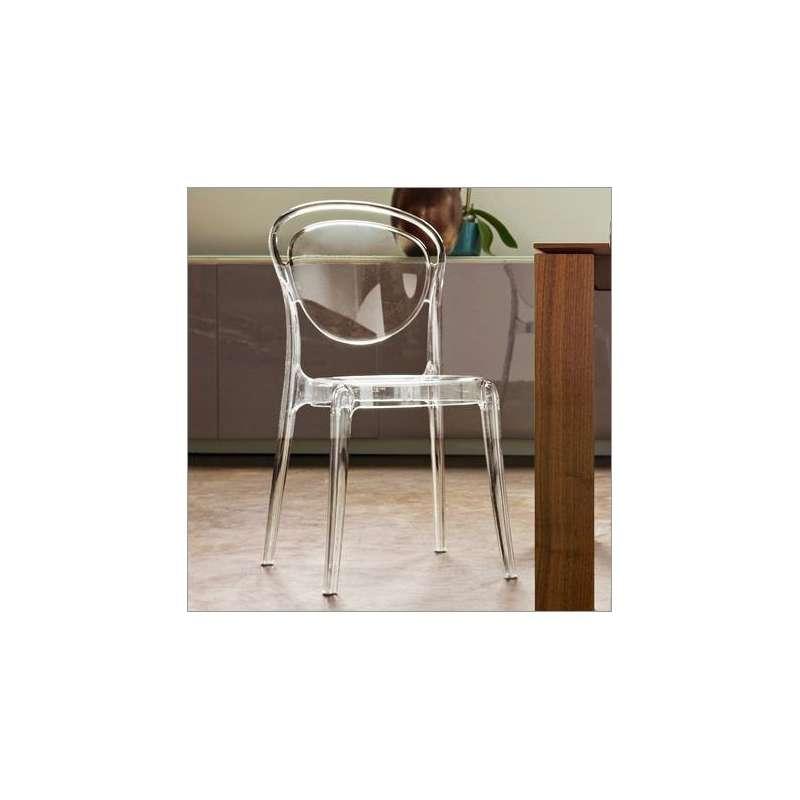 chaise design en plexi parisienne connubia 4 pieds tables chaises et tabourets. Black Bedroom Furniture Sets. Home Design Ideas