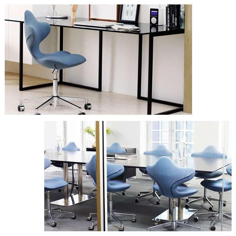chaise de bureau ergonomique en tissu et m tal active varier 4. Black Bedroom Furniture Sets. Home Design Ideas
