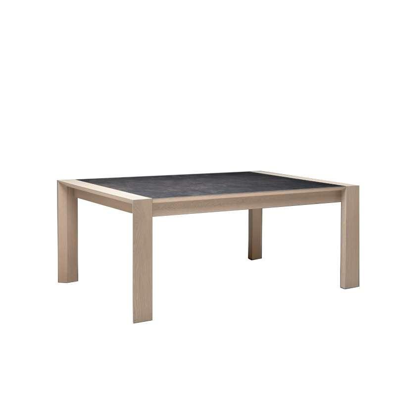 Table de salle manger en c ramique rectangle carr e for Table qui s allonge