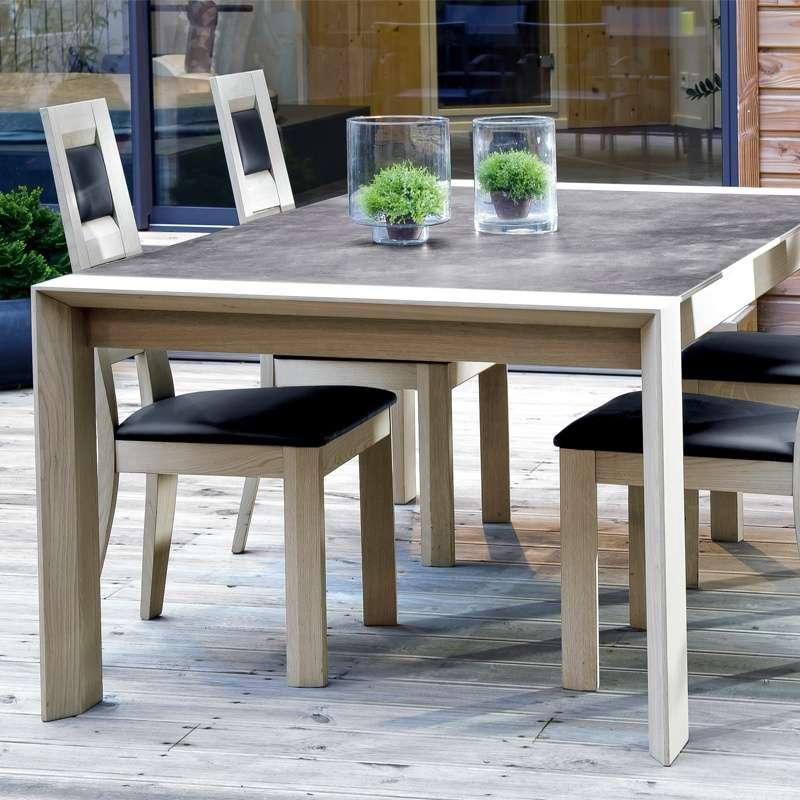 La Nouvelle Table En Ceramique Et Bois 4 Pieds Tables Chaises