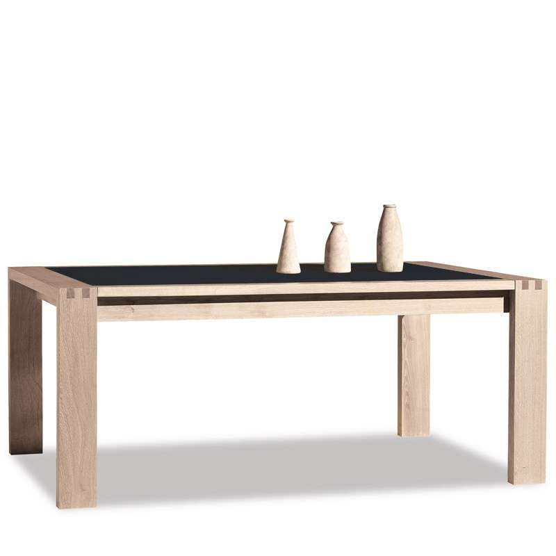 Table de salle manger en c ramique rectangle carr e for Table de sejour carree