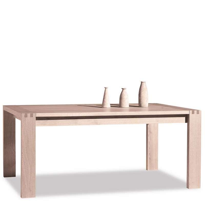 Table de salle manger en ch ne massif conception e 4 pieds tables ch - Table a manger chene massif ...