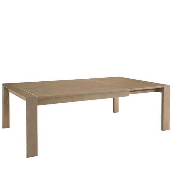 Table contemporaine en Chêne massif décor alu - 2