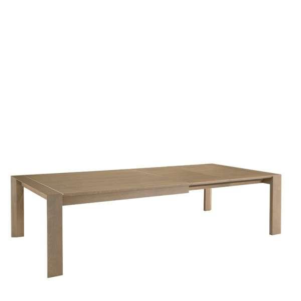 Table contemporaine en Chêne massif décor alu - 3