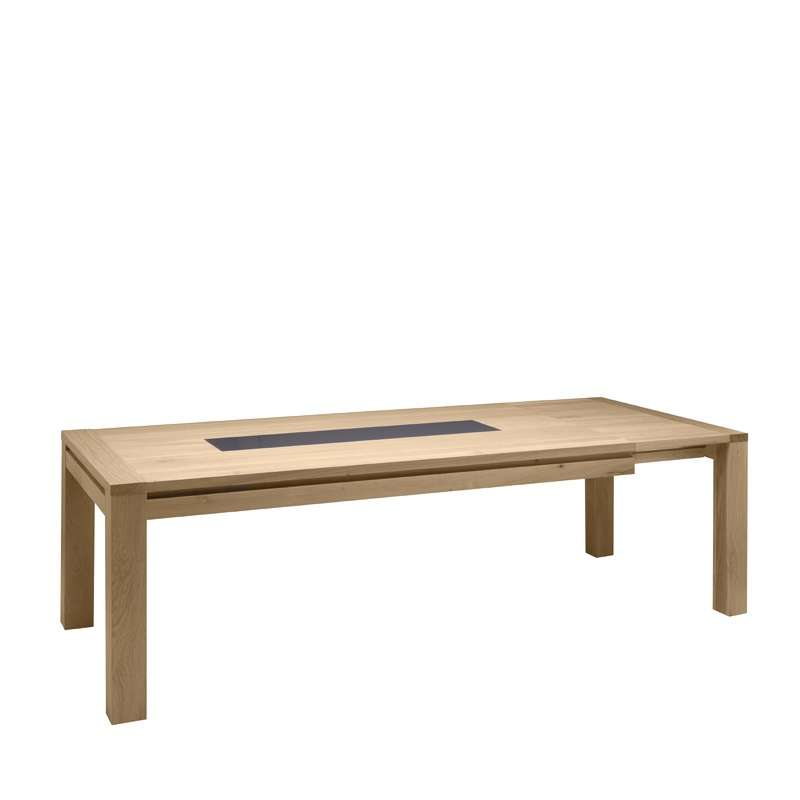 Table de salle manger en ch ne massif conception g 4 for Table de salle a manger retractable