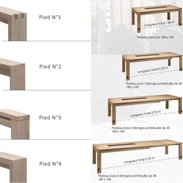 Table de salle manger en ch ne massif conception g 4 - Table de salle a manger carree avec pied central ...