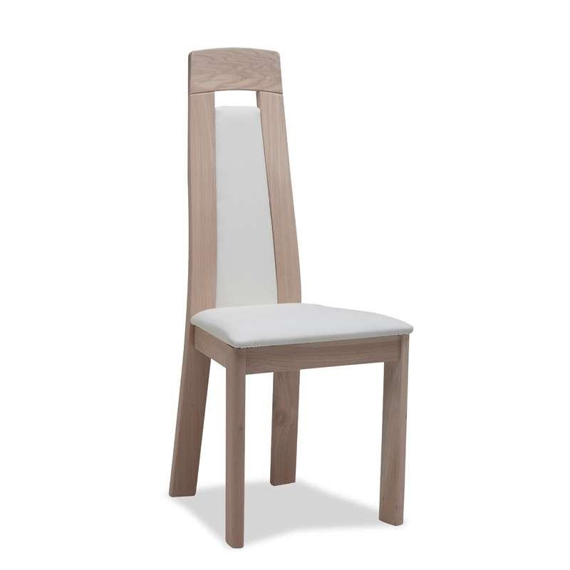 Chaise contemporaine en ch ne 4 pieds tables chaises for Chaise de salle a manger en chene massif recouvert de tissu