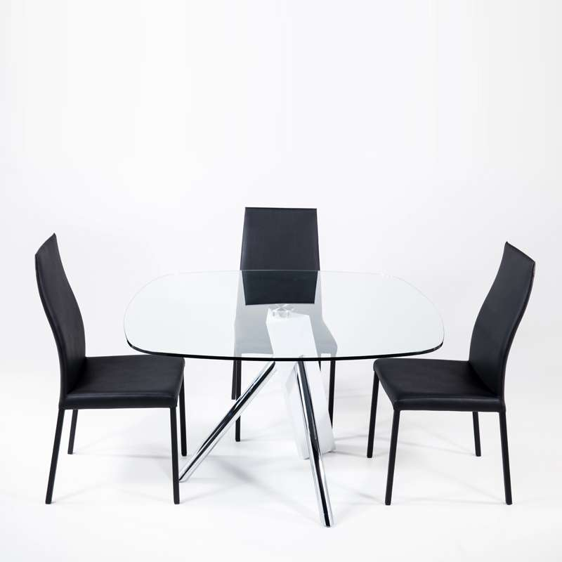 table en verre design carr tundra 120 cm x 120 cm 4. Black Bedroom Furniture Sets. Home Design Ideas