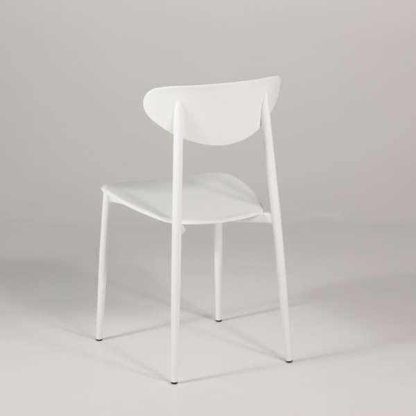 Chaise de cuisine en polypropylène blanche - Graffiti 4 - 4
