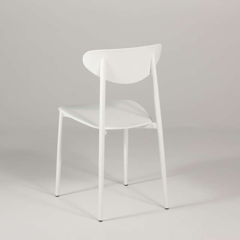 Chaise de cuisine en polypropyl ne blanche graffiti 4 pieds tables cha - Chaise blanche cuisine ...
