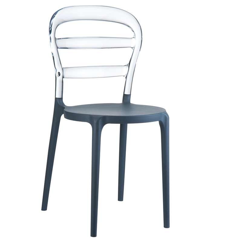 Chaise moderne en plexi et polypropyl ne miss bibi 4 for Chaise en plexi