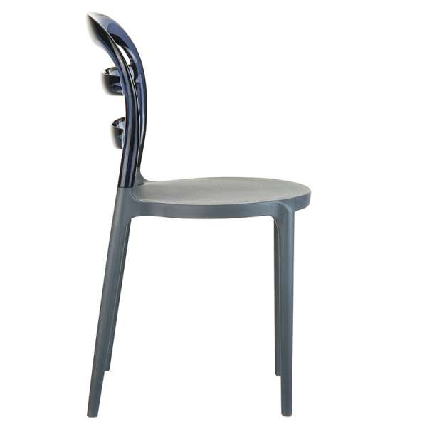Chaise design en plexi et polypropylène - Miss Bibi 18 - 24
